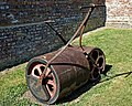 Loughton Cricket Club cricket pitch rollers, at Loughton, Essex, England 01.jpg