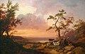 Loutherbourg-Un coucher du soleil sur un lac avec un troupeau, un berger et une paysanne.jpg