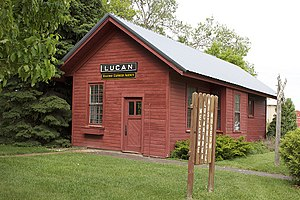 National Register of Historic Places listings in Redwood County, Minnesota - Image: Lucan Depot