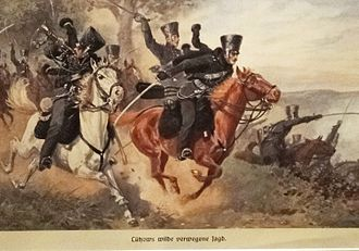 German Campaign of 1813 - The Lützow Free Corps in action.