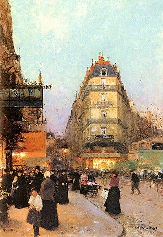Grands Boulevards (Paris Métro) - Les grands Boulevards, by Luigi Loir.