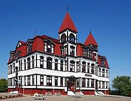 L'« Académie », école primaire dans le Vieux Lunenburg, site du patrimoine mondial en Nouvelle-Écosse. (définition réelle 3303×2547)