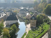 Λουξεμβούργο.Αποψη του παλιού τμηματος της πόλης