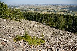 Świętokrzyskie Mountains - Mountain rock rubble (Gołoborze)