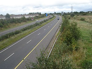 N20 road (Ireland) - The M20 outside Limerick city approaching junction 2 northbound