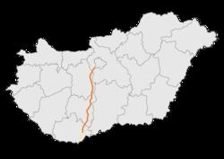 magyarország térkép m6 Greitkelis M6 (Vengrija) – Vikipedija magyarország térkép m6
