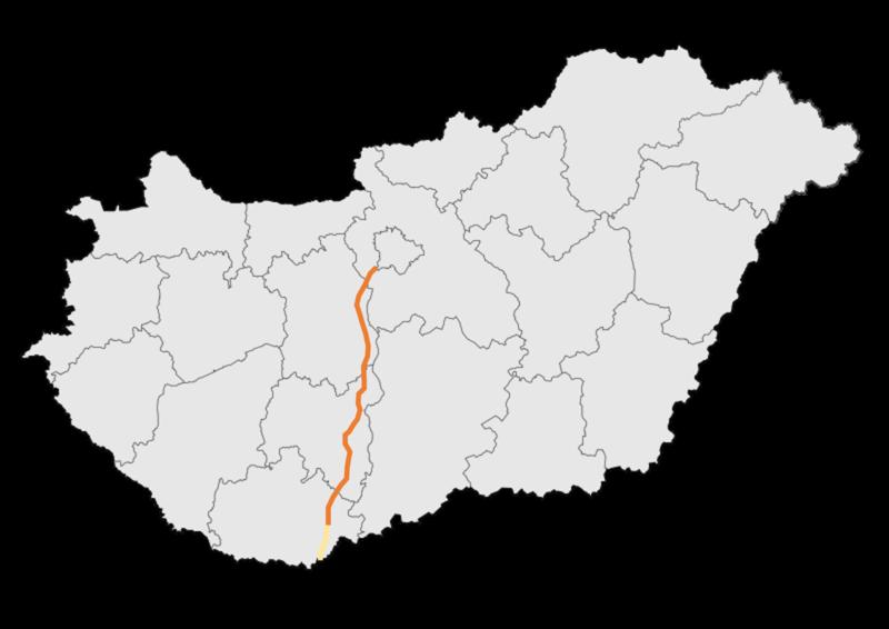 autópálya térkép File:M6 autópálya   térkép.png   Wikimedia Commons