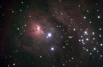 NGC 6530 - The lagoon nebula and NGC 6530 (on the right)