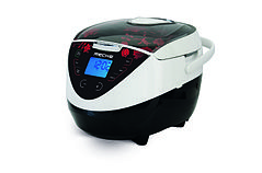 A multicooker with TFT display, clock, timer and automatic programs.