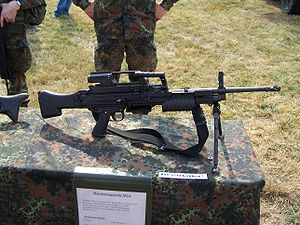 Heckler & Koch MG4 - German Army MG4 with a telescopic sight.