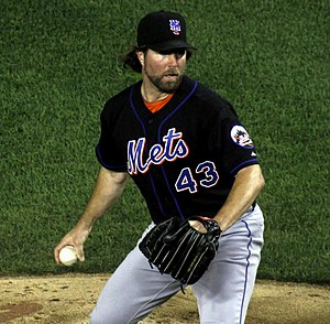 R.A. Dickey - Dickey pitching for the New York Mets in 2011