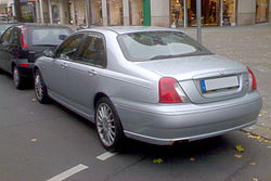 MG ZT sedan silver rear.jpg