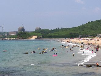 Nuclear power in Taiwan - Maanshan Nuclear Power Plant in South Bay, Hengchun, Pingtung.
