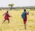 Maasai men throwing spears.jpg