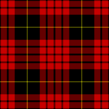 the macqueen tartan as published in the vestiarium scoticum in 1842 today the vestiarium is considered a victorian era hoax
