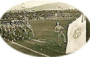 Machine Sazi F.C. - Machine Sazi's players in a parade in Bagh Shomal Stadium, 1969