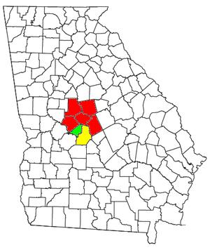 Macon metropolitan area, Georgia - Image: Macon Warner Robins Fort Valley CSA