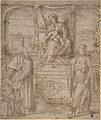 Madonna and Child Enthroned with Saint Basil the Great and Saint John the Baptist and Donor MET DP807542.jpg