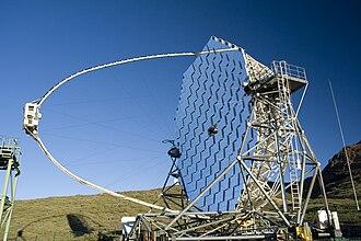 MAGIC (telescope) - MAGIC on a sunny day