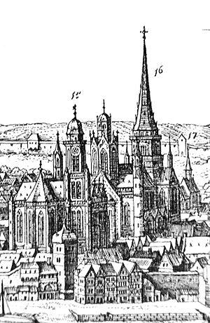 Johann Philipp von Schönborn - Mainz Cathedral, Matthaeus Merian, 1633