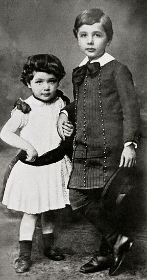 Einstein family - Maja and Albert, c. 1886