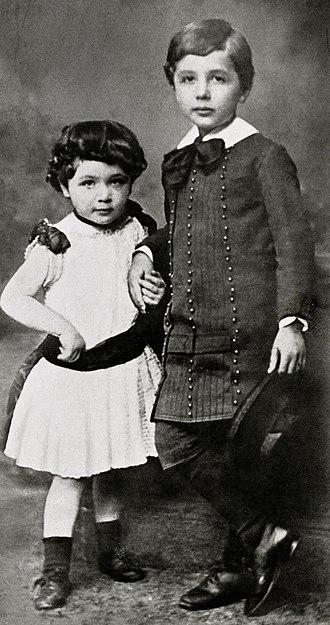 Einstein family - Maja and Albert, c. 1886