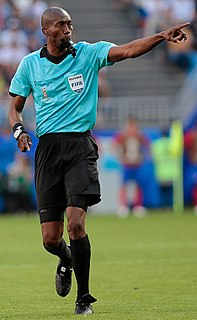 Referee (association football) supervisor of a game of association football
