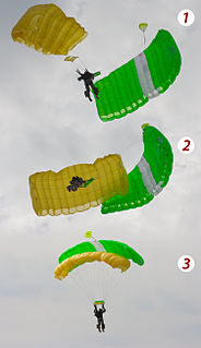 Malfunction (parachuting) failure of a parachuting device