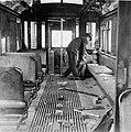 Man assists injured strikebreaker during San Francisco Street Car Strike 1907.jpg
