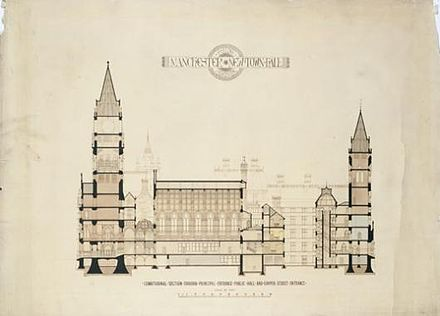 Cross section drawing by Waterhouse Manchester Town Hall Cross Section Drawing.jpg
