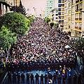 Manifestaciones en La Paz, Bolivia en contra el fraude electoral y el gobierno de Evo Morales.jpg