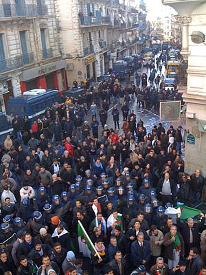 2010–12 Algerian protests - Demonstration organised by RCD in Algiers