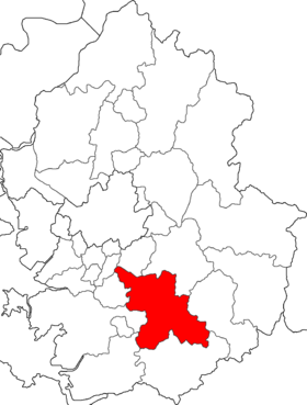 Location of Yongin