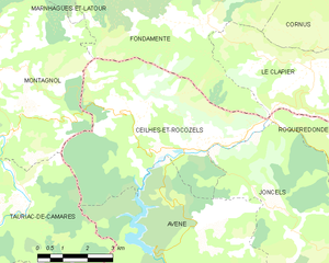 Map commune FR insee code 34071.png