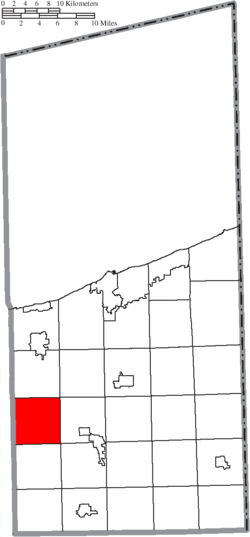 Location of Trumbull Township in Ashtabula County
