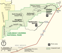 Carlsbad Caverns National Park Wikipedia - Map of public caves us