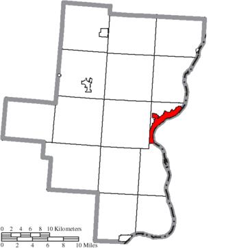 Gallipolis, Ohio - Image: Map of Gallia County Ohio Highlighting Gallipolis Village