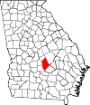 Map of Georgia highlighting Dodge County.svg