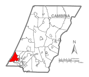 Lower Yoder Township, Cambria County, Pennsylvania - Image: Map of Lower Yoder Township, Cambria County, Pennsylvania Highlighted