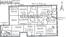 Municipalities and townships of Mahoning County