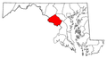 Map of Maryland highlighting Montgomery County.png