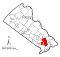 Map of Middletown Township, Bucks County, Pennsylvania Highlighted.png