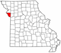 Map of Missouri highlighting Platte County.png