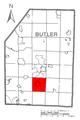 Map of Penn Township, Butler County, Pennsylvania Highlighted.png