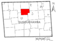 Map of Susquehanna County Pennsylvania highlighting Franklin Township.PNG