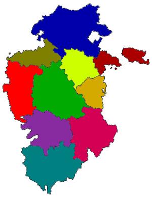 Province of Burgos - Image: Mapa Comarcas de Burgos