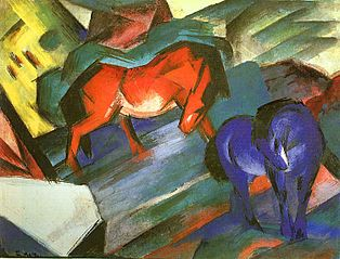 Red and Blue Horses