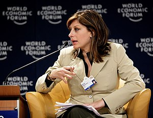 DAVOS/SWITZERLAND, 25JAN07 - Maria Bartiromo, ...