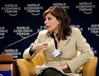 Maria Bartiromo - Bartiromo moderating a session at the World Economic Forum in 2007
