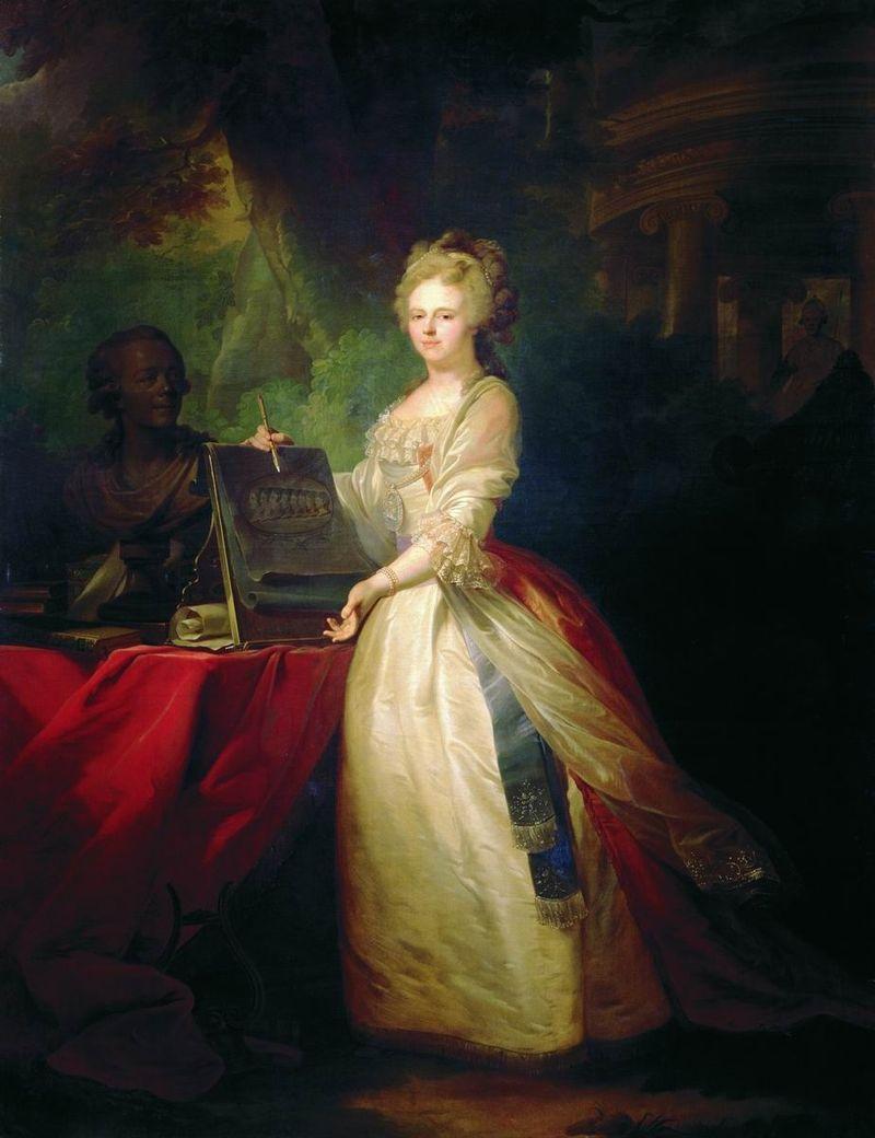Мария Федоровна с профильным портретом детей работы Лампи (Краснодар) .jpg
